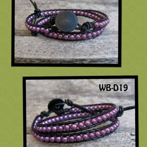 WB-D19 double beaded wrap bracelet